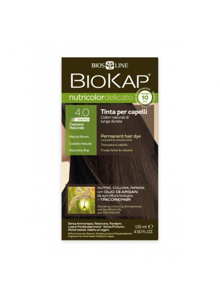 Biokap Nutricolor Delicato Rapid 4.00 / naturaalne pruun / püsivärv