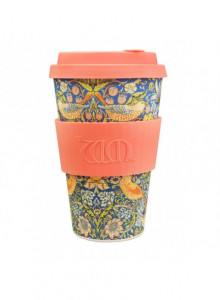 Reusable takeaway cup William Morris Thief, 400ml / Ecoffee Cup