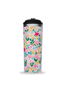 Insulated Stainless Steel Travel Mug, Flora - Pink